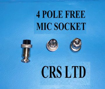 CB 4 POLE FEMALE MIC PLUG SELF CONNECT FOR CB MICS HGV LORRY 27 MHZ EQUIPMENT